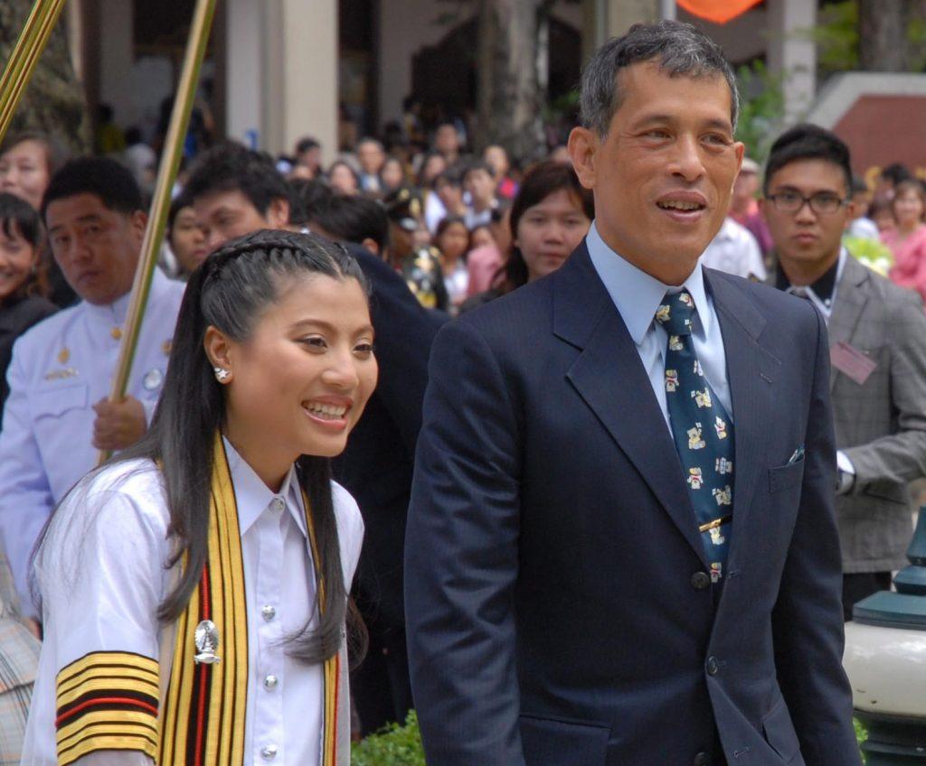 Then-Crown Prince and his daughter princess Sirivannavari Nariratana at her graduation in 2008