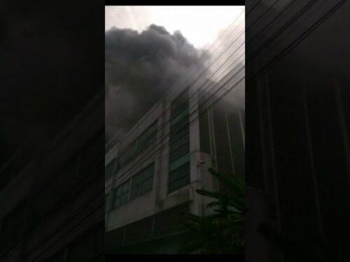Fire Put Out at Bangkok's Ramathibodi Hospital (Video)