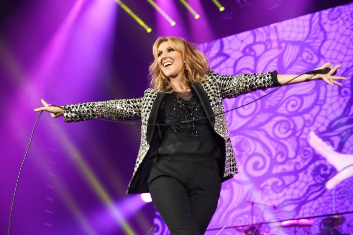 Over-excited fan humps Celine Dion on stage