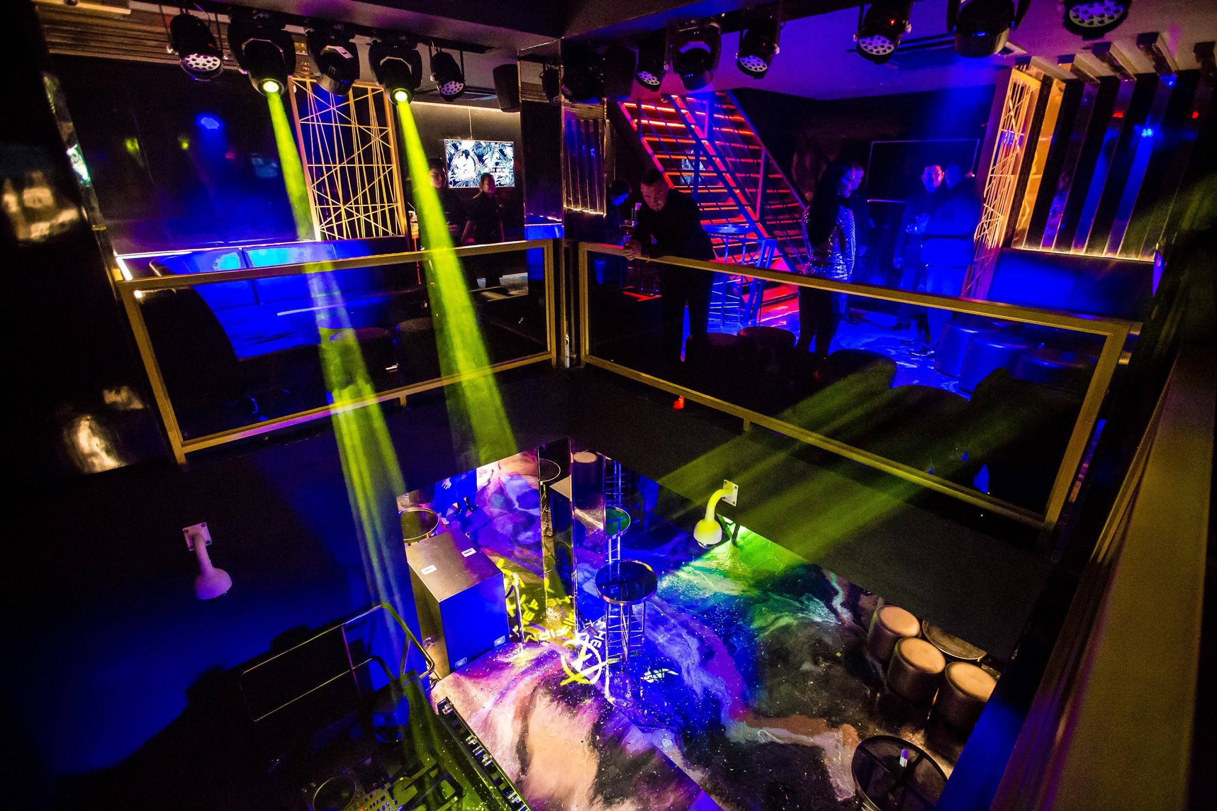 Looking down on the main dance floor and stage from the VIP area. Photo: The Firm