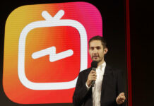 Kevin Systrom, CEO and co-founder of Instagram, prepares for an announcement about IGTV on June 18 in San Francisco. Photo: Jeff Chiu / Associated Press