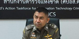 An undated photo of Lt. Gen. Surachate Hakparn as he addresses questions in Bangkok.