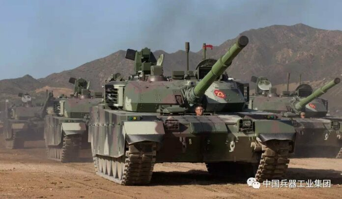 A file photo of VT-4 battle tanks delivered to Thailand in 2018. Photo: Norinco