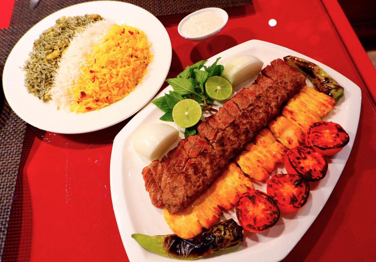 Mixed kebab (600 baht).