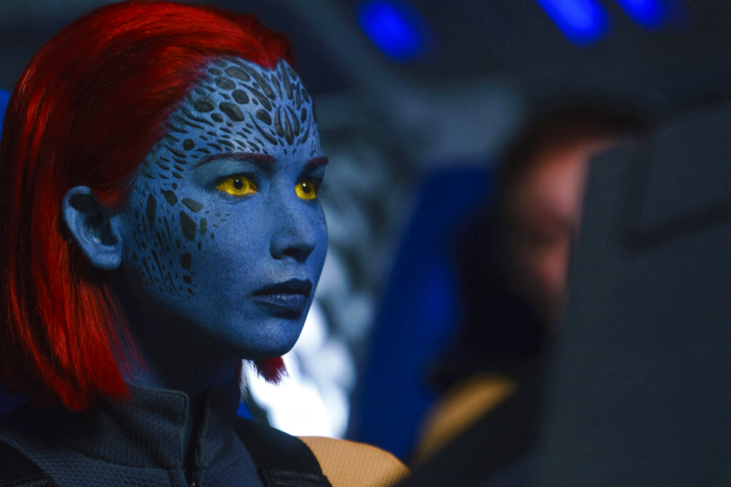 "This image released by Twentieth Century Fox shows Jennifer Lawrence in a scene from ""Dark Phoenix."" Photo: Doane Gregory / Twentieth Century Fox via AP"