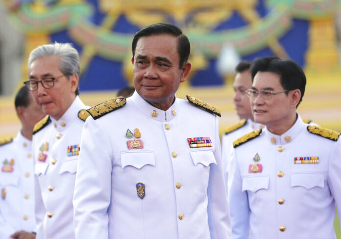 Thailand's Prime Minister Prayuth Chan-ocha attends a group photo with his cabinet members at the government house in Bangkok Tuesday, July 16, 2019. Photo: Sakchai Lalit / AP
