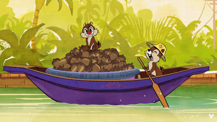 Chip 'n' Dale are two brothers, selling stuff in the khlong. Image: Mickey Mouse / YouTube