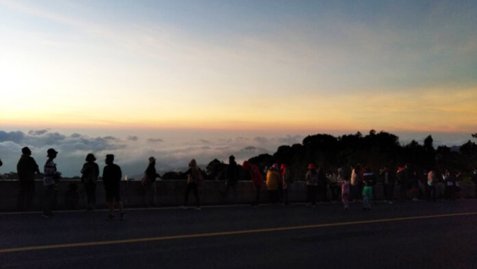 Tourists at Doi Inthanon National Park on Oct. 15, 2019.