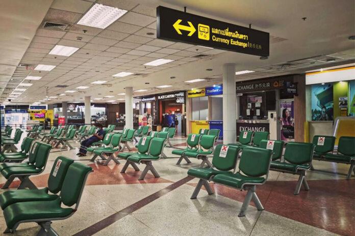Empty seats at Chiang Mai Airport.