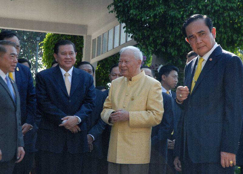 Leaders of the junta meet Gen. Prem Tinsulanonda at his residence yesterday